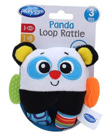 Playgro Panda Loop Rattle Toy - Black And White