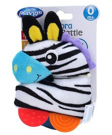 Playgro Zebra Loop Soft Toy Rattle