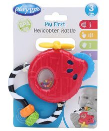 Playgro Helicopter Plastic Rattle - Red