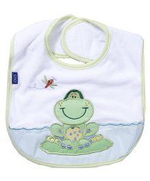 Playgro Pond Turtle Bib - Green And White