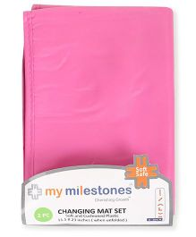 My Milestones Changing Mat Pack of 2 - Pink