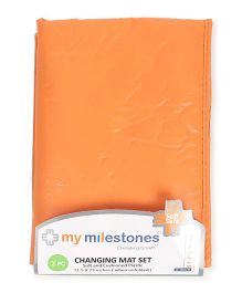 My Milestones Changing Mat Pack of 2 - Orange