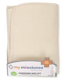 My Milestones Changing Mat Pack of 2 - Cream