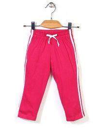 Babyhug Full Length Plain Track Pants - Pink