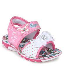 Myau Party Wear Sandals Bow Applique - Pink