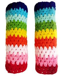 MayRa Knits Rainbow Leg Warmers - Multicolour