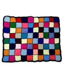 MayRa Knits Christmas Throw Blanket- Multicolour
