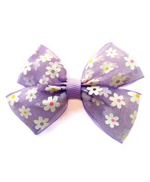 Milonee Double Bow  Hair Clip - Purple