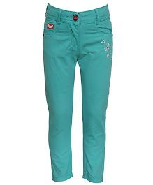 Tales & Stories Designer Full Length Trouser - Green