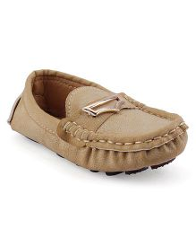 Cute Walk Party Loafer Shoes - Beige