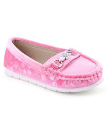 Cute Walk Party Loafer Shoes - Pink
