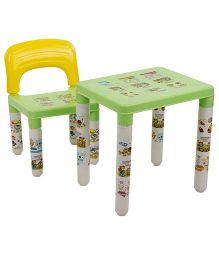 Lovely Table And Chair Set - Green