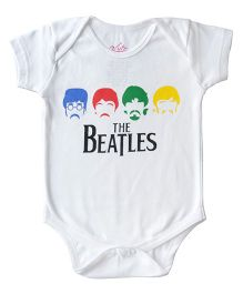 Acute Angle The Beatles Print Onesie - White