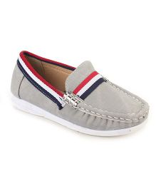 Cute Walk Party Loafer Shoes - Light Grey