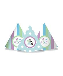 Prettyurparty Blue And Purple Baby Shower Hats - Pack of 10