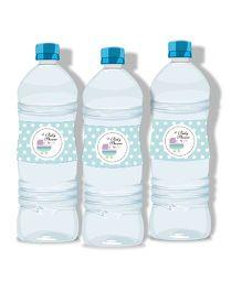 Prettyurparty Baby Shower Water Bottle Labels - Blue