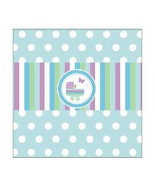 Prettyurparty Baby Shower Themed Chocolate Wrappers - Blue