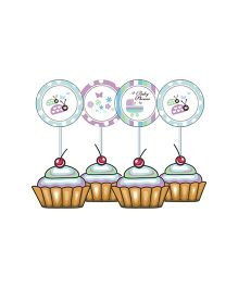 Prettyurparty Baby Shower Cupcake Food Toppers - Multi Color