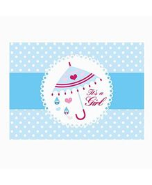 Prettyurparty Pink And Blue Baby Shower Table Mats  - Pack of 6