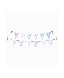 Prettyurparty Pink and Blue Baby Shower Bunting