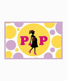 Prettyurparty Ready to POP Baby Shower Table Mats - Yellow And Purple