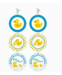 Prettyurparty Rubber Ducky Baby Shower Danglers