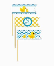 Prettyurparty Rubber Ducky Baby Shower Toothpicks