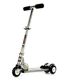 Flyers Bay Ultra Durable Big Wheel Scooter - Silver