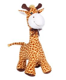 Ultra Standing Giraffe Soft Toy 16 Inches - Brown