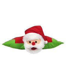 Ultra Christmas Santa Cushion Soft Toy - Red & Green