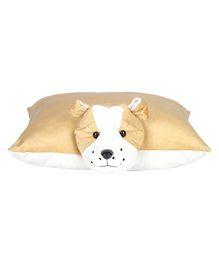Ultra Bulldog Applique Cushion - Beige