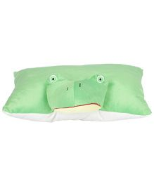 Ultra Froggy Applique Cushion - Green