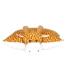 Ultra Giraffe Applique Cushion - Yellow