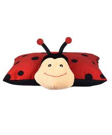 Kuddles Ultra Folding Ladybug Applique Cushion - Red