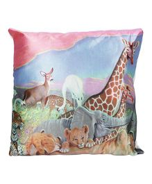 Ultra Animal Printed Cushion For Kids - Multicolor