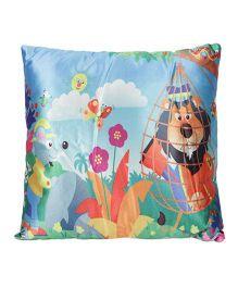 Ultra Rat And Lion Print Cushion - Blue