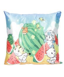Ultra Watermelon Print Cushion - Blue