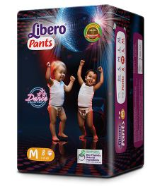 Libero Pant Style Diapers Medium - 8 Pieces