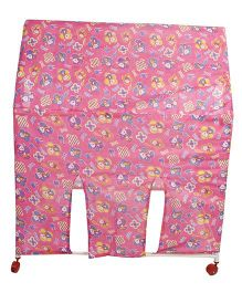 Lovely Play Tent House Stick And Toon Print - Pink