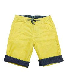 Bees And Butterflies Bermuda Shorts - Yellow