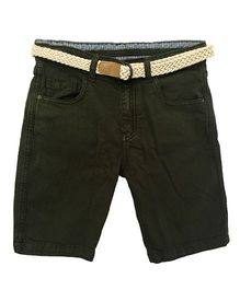 Bees And Butterflies Shorts - Olive Green