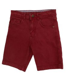 Bees And Butterflies Shorts - Maroon