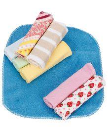 Babyhug Wash Cloth Multi Print And Color - Pack Of 8