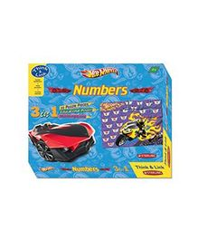 Sterling 3 In 1 Numbers Hotwheels Puzzle - 30 Pieces