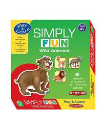Sterling Simply Fun Puzzle - Wild Animals