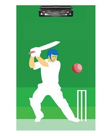 Sterling Clip And Drawing Board - Cricket Theme