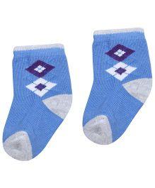 Mustang Ankle Socks - Blue