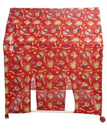 Lovely Play Tent House Teddy With Alphabets Print - Red