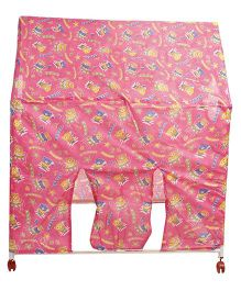 Lovely Play Tent House Teddy With Alphabets Print - Pink