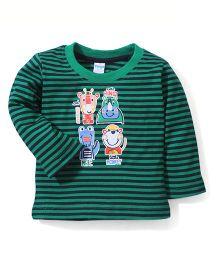 Tango Full Sleeves Striped T-Shirt - Green